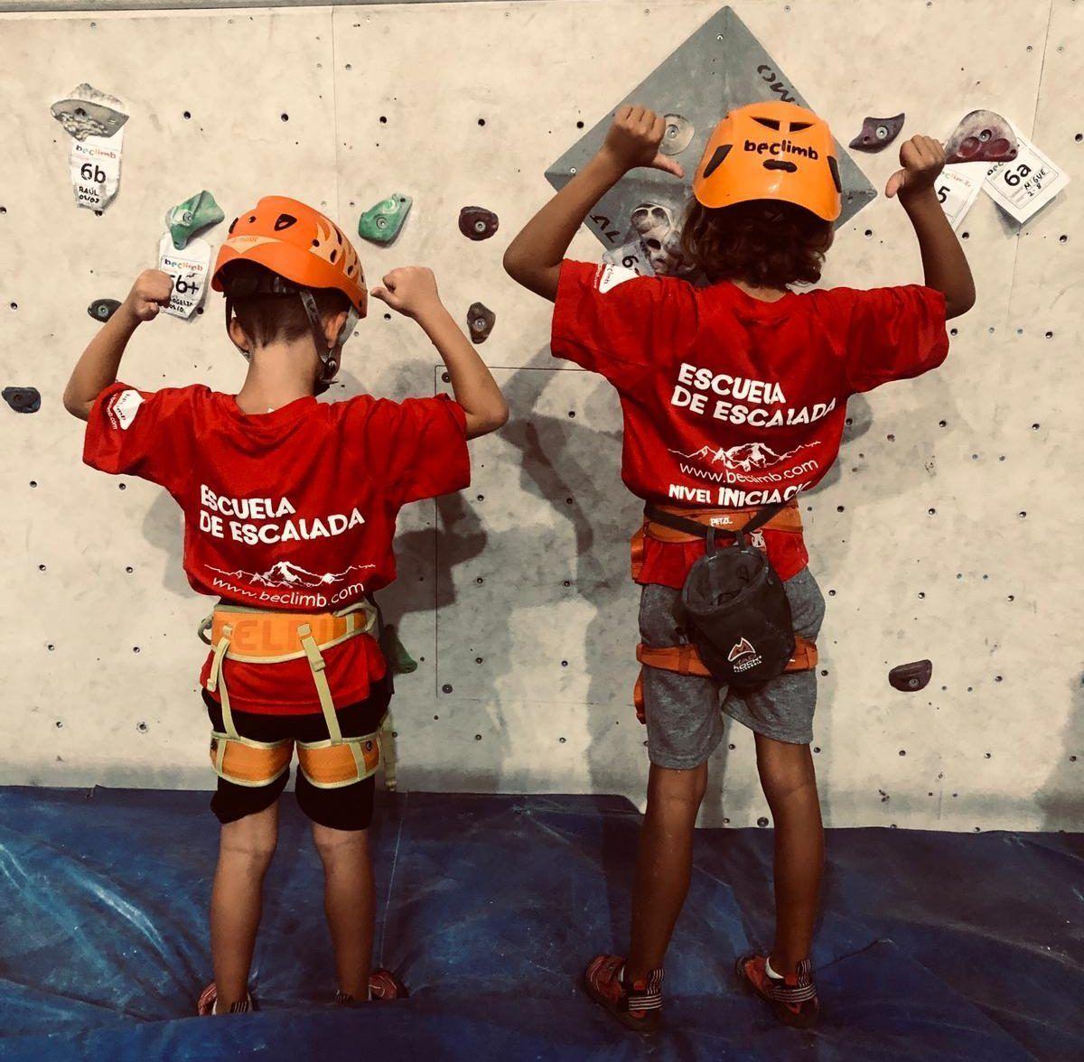 niños escuela escalada beclimb