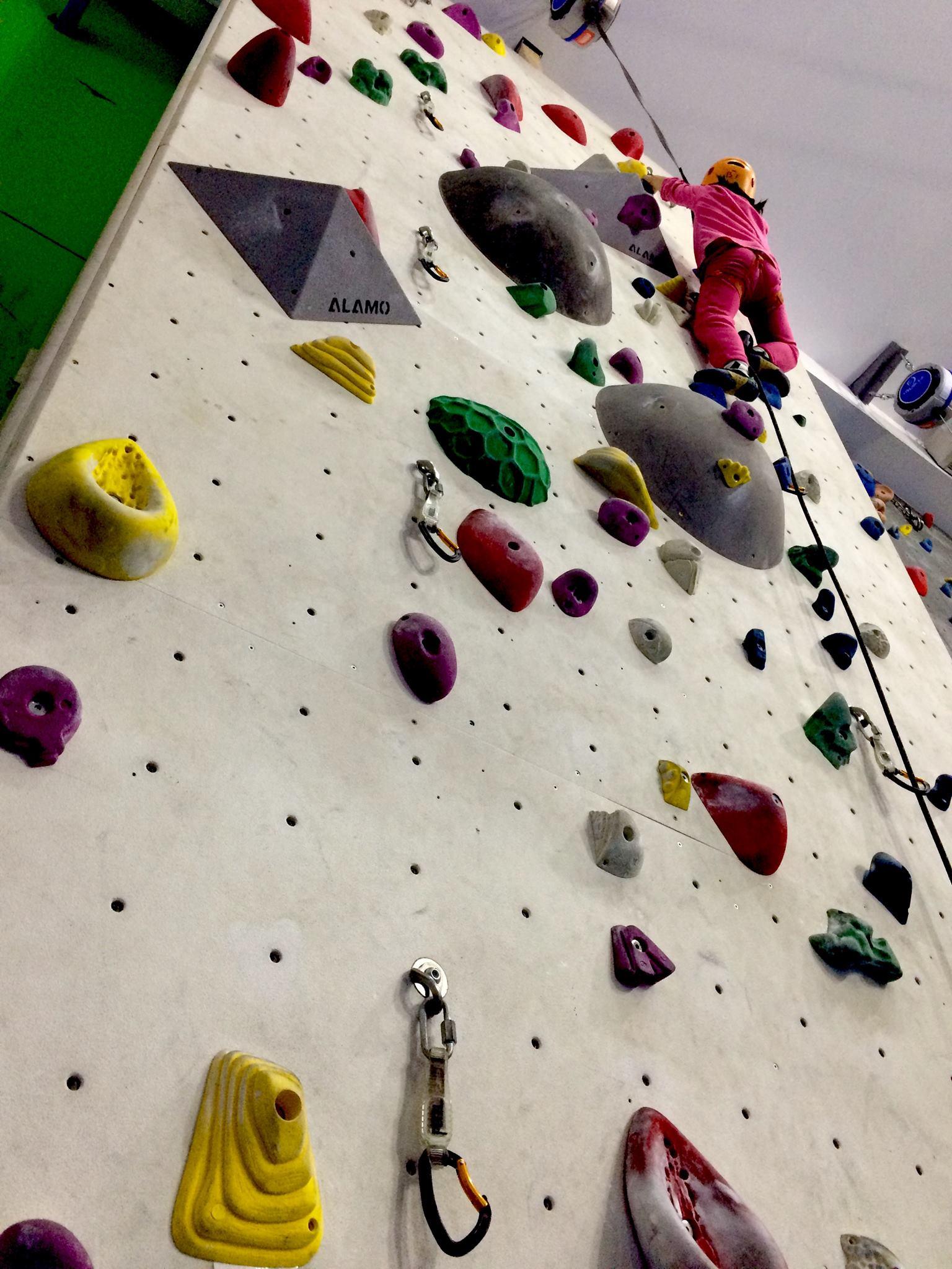 escalador en paso complicado